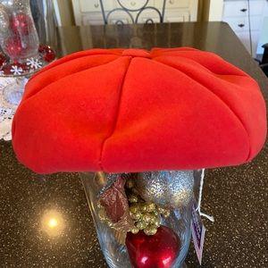 Vintage 1940 - 50's Red wool hat